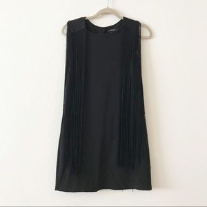 Forever 21 Little Black Fringe Dress